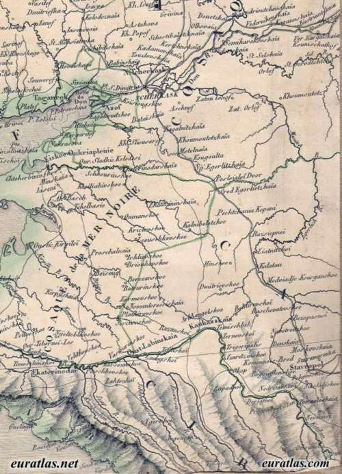 Кубань, 1845 год